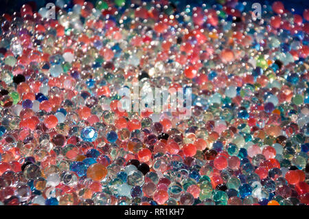 Multicolored water beads - Stock Photo