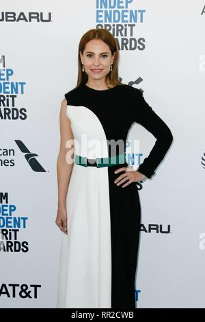 Los Angeles, USA. 23rd Feb, 2019. LOS ANGELES, CA - FEBRUARY 23: Marina de Tavira at the 34th Film Independent Spirit Awards on February 23, 2019 in Los Angeles, California. Credit: Imagespace/Alamy Live News - Stock Photo