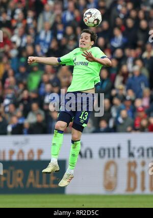 Mainz, Deutschland. 23rd Feb, 2019. firo: 23.02.2019 Football, Football: 1. Bundesliga, Season 2018/2019 FSV FSV FSV Mainz 05 - FC Schalke 04 3: 0 S04 Sebastian Rudy, single action | usage worldwide Credit: dpa/Alamy Live News - Stock Photo
