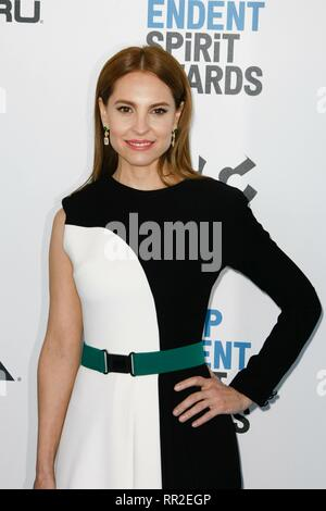 Santa Monica, California, USA. 23rd Feb, 2019. LOS ANGELES, CA - FEBRUARY 23: Marina de Tavira at the 34th Film Independent Spirit Awards on February 23, 2019 in Los Angeles, California. Photo: imageSPACE /MediaPunch Credit: MediaPunch Inc/Alamy Live News - Stock Photo