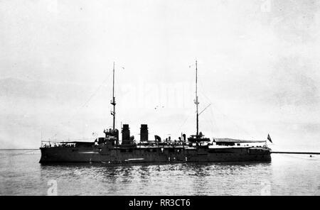 Niederländische Marine / Royal Netherlands Navy - Küstenpanzerschiff / Coastal Defence Ship HNLMS De Zeven Provinciën - 1923 - Stock Photo