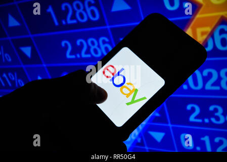 Portugal. 24th Feb, 2019. Ebay logo is seen on an android mobile phone. Credit: Omar Marques/SOPA Images/ZUMA Wire/Alamy Live News - Stock Photo