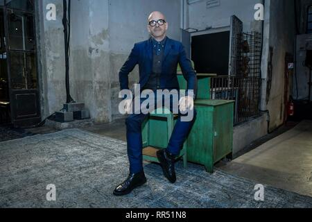 Milan, Italy. 24th Feb, 2019. 2020 In the Photo: Antonio Marras Credit: Independent Photo Agency/Alamy Live News - Stock Photo