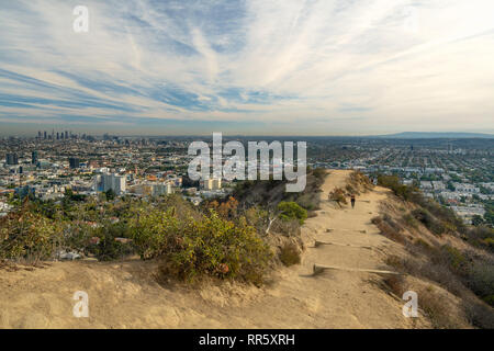Runyon Canyon Park - a popular hiking area in Los Angeles - Stock Photo