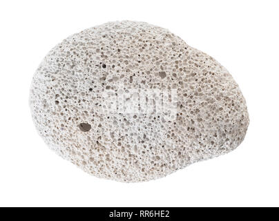 Found natural pumice stone isolated on white. - Stock Photo