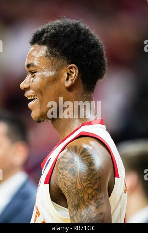 Raliegh, North Carolina, USA. 24th Feb, 2019. North Carolina State Wolfpack guard Markell Johnson (11) during the NCAA College Basketball game between the Wake Forest Demons Deacons and the North Carolina State Wolfpack at PNC Arena on Sunday February 24, 2019 in Raleigh, NC. Jacob Kupferman/CSM Credit: Cal Sport Media/Alamy Live News - Stock Photo