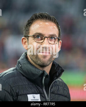 Duesseldorf, Deutschland. 23rd Feb, 2019. coach Boris SCHOMMERS (N) Soccer 1.Bundesliga, 23.matchday, Fortuna Dusseldorf (D) - FC Nuremberg (N), 23/02/2019 in Duesseldorf/Germany. ## DFL regulations prohibit any use of photographs as image sequences and/or quasi-video ## | usage worldwide Credit: dpa/Alamy Live News - Stock Photo