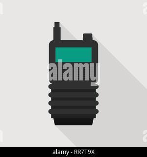 Walkie talkie icon, flat style - Stock Photo