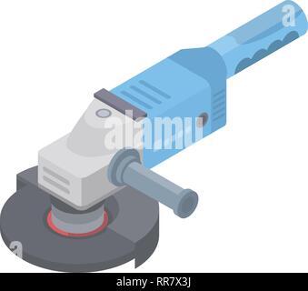 Angle grinder icon, isometric style - Stock Photo