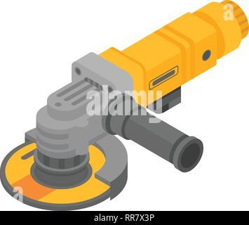 Modern angle grinder icon, isometric style - Stock Photo