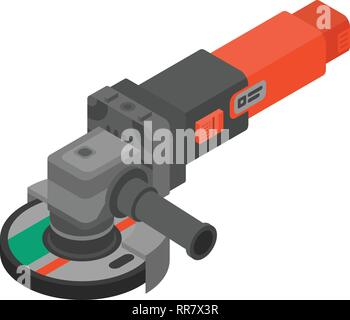 Cutting angle grinder icon, isometric style - Stock Photo