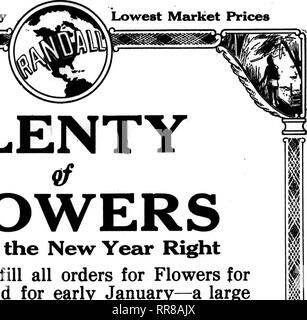 . Florists' review [microform]. Floriculture. Best Quality Lowest Market Prices. PLENTY. Please note that these images are extracted from scanned page images that may have been digitally enhanced for readability - coloration and appearance of these illustrations may not perfectly resemble the original work.. Chicago : Florists' Pub. Co - Stock Photo