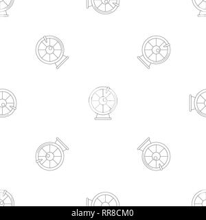 Fortune wheel pattern seamless vector repeat geometric for any web design - Stock Photo
