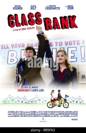 CLASS RANK, SKYLER GISONDO , OLIVIA HOLT POSTER, 2017 - Stock Photo