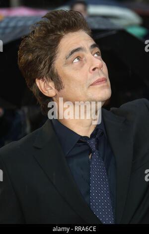 Sep 21, 2015 - London, England, UK - 'Sicario' UK Premiere at Empire, Leicester Square - Red Carpet Arrivals Photo Shows: Benicio Del Toro - Stock Photo