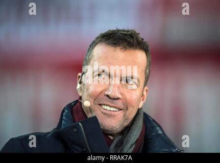 Duesseldorf, Deutschland. 23rd Feb, 2019. Lothar MATTHAEUS (Matthaus), football expert, former football player, Soccer 1.Bundesliga, 23.matchday, Fortuna Dusseldorf (D) - FC Nuremberg (N) 2: 1, on 23.02.2019 in Duesseldorf/Germany. ## DFL regulations prohibit any use of photographs as image sequences and/or quasi-video ## | usage worldwide Credit: dpa/Alamy Live News - Stock Photo