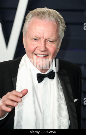 BEVERLY HILLS, LOS ANGELES, CA, USA - FEBRUARY 24: Jon Voight arrives at the 2019 Vanity Fair Oscar Party held at the Wallis Annenberg Center for the Performing Arts on February 24, 2019 in Beverly Hills, Los Angeles, California, United States. (Photo by Xavier Collin/Image Press Agency) - Stock Photo