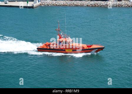 Spanish maritime rescue boat Salvamar Mintaka - Stock Photo