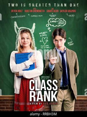 CLASS RANK, OLIVIA HOLT , SKYLER GISONDO POSTER, 2017 - Stock Photo