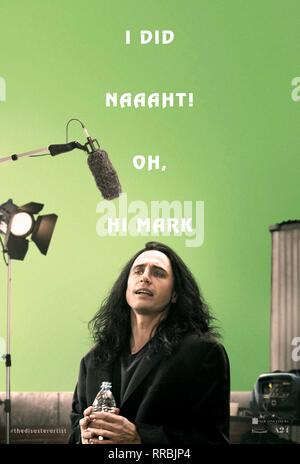 THE DISASTER ARTIST, JAMES FRANCO POSTER, 2017 - Stock Photo