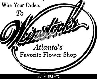 ". Florists' review [microform]. Floriculture. Market i LEADING FLORISTS Geny Bros. Members Florists' Telegraph Delivery 212 Fifth Avenue North. NASHVILLE, TENN. ""WE NEVER SLEEP"" Idlewild IV f L* T GreeDhouses IVlempnis, 1 cnii. 89 South Main Street ""Up-to-the-minute"" Service and Execution Member Florists' Telegraph Delivery Send all MEMPHIS Orders to THE FLOWER SHOP 8! Union Avenue MEMPHIS. TENNESSEE Memphis, Tenn. JOHNSON'S GREENHOUSES 161 MADISON AVE. Established 1888 Member Florists' Telegraph Delivery Ass'n ATLANTA, GA. Lawrence Floral Co. oc?£i?c Flowers for all casion - Stock Photo"