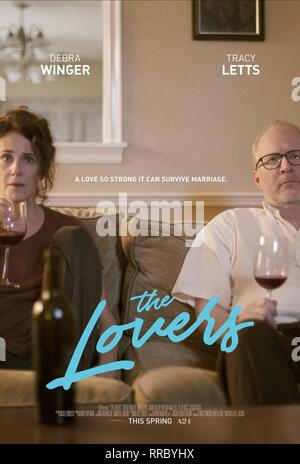 THE LOVERS, DEBRA WINGER , TRACY LETTS POSTER, 2017 - Stock Photo
