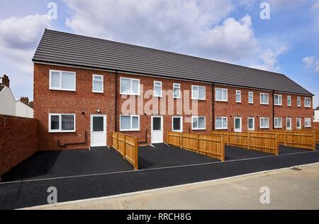 New Build Houses - Stock Photo