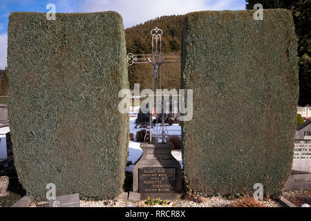 cemetery of Malmedy, Belgium, Europe.  Friedhof von Malmedy, Belgien, Europa. - Stock Photo