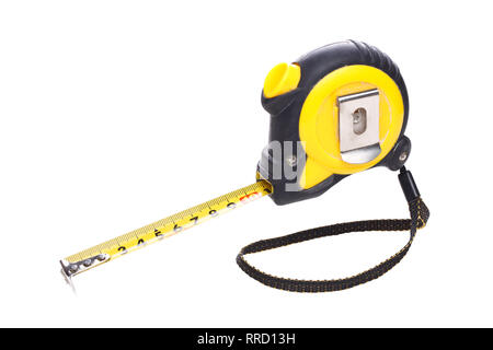 Measuring tape on empty background - Stock Photo