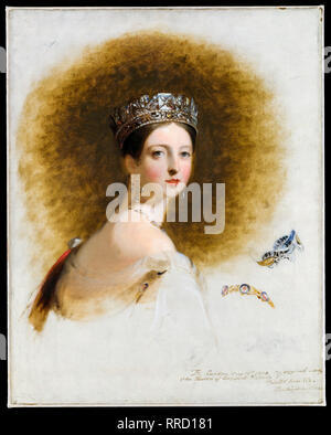 Queen Victoria portrait, Thomas Sully, 1838, painting - Stock Photo