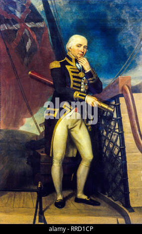 Vice-Admiral Cuthbert Collingwood, portrait painting, 1827 by Henry Howard - Stock Photo