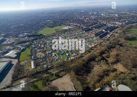 Oak Road, Allotments, Kingston upon Hull - Stock Photo