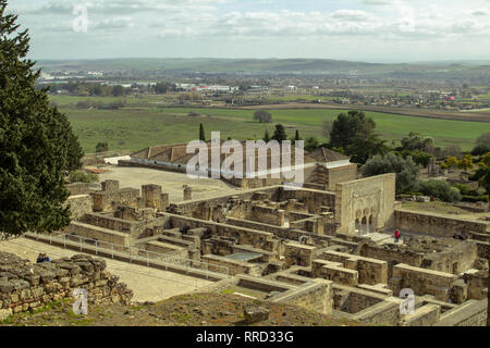 The ruins of Medina Azahara a vast  Moorish medieval palace-city built by Abd-ar-Rahman III (912–961). The city was destroyed about 80 years later. - Stock Photo