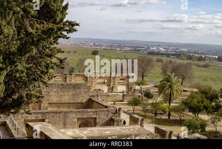 The ruins of Medina Azahara a vast  Moorish medieval palace-city built by Abd-ar-Rahman III (912–961).The city was destroyed about 80 years later. - Stock Photo