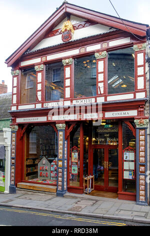 Hay-on-Wye a small market town in Brecknockshire Wales UK Richard Booths Bookshop - Stock Photo