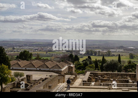 The ruins of Medina Azahara a vast  Moorish medieval palace-city built by Abd-ar-Rahman III (912–961).The city was destroyed about 80 years later. - Stock Photo
