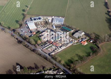 aerial view of the Crown Garden Centre & Nursery at Balne near Goole, East Yorkshire - Stock Photo