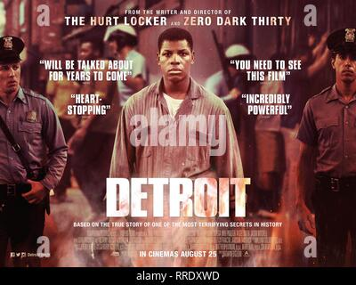 DETROIT, MOVIE POSTER, 2017 - Stock Photo
