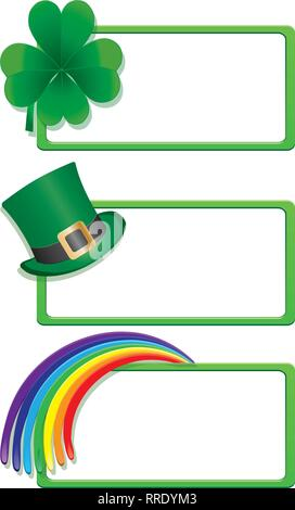 Set of St. Patrick`s day banners, part 1, vector illustration - Stock Photo