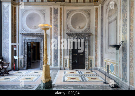 Interior or Loggia of Cupid & Psyche (1518) (Painted by Raphaël) in the Renaissance Villa Farnesina, built 1506-1510, Trastevere Rome Italy - Stock Photo