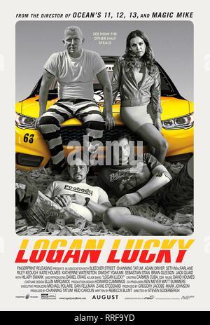 LOGAN LUCKY, DANIEL CRAIG, RILEY KEOUGH, CHANNING TATUM , ADAM DRIVER POSTER, 2017 - Stock Photo