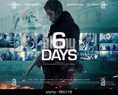 6 DAYS, JAMIE BELL POSTER, 2017 - Stock Photo