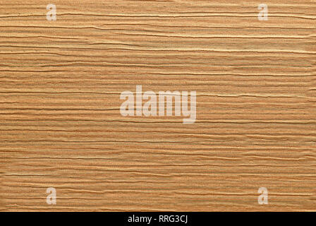 Dense fabric with striped rough textured surface in a brown colour - Stock Photo