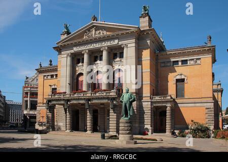 National Theatre, Oslo, Norway, Scandinavia, Europe - Stock Photo