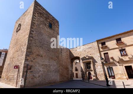 Torreón Puerta de Úbeda, Baeza, Jaen province, Andalucia, Spain - Stock Photo