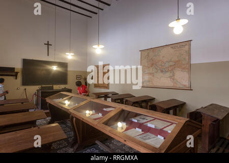Classroom of Antonio Machado, Baeza, Jaen province, Andalucia, Spain - Stock Photo
