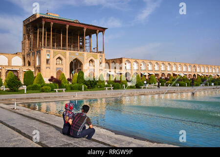 Ali Qapu Palace, UNESCO World Heritage Site, Imam Square, Isfahan, Iran, Middle East - Stock Photo