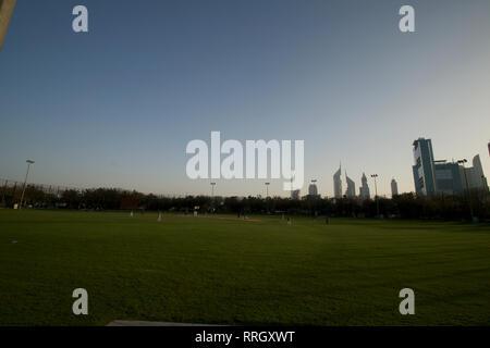 Dubai-Zabeel Park Cricket Ground 1 - Stock Photo