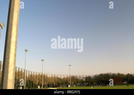 Dubai-Zabeel Park Cricket Ground 2 - Stock Photo