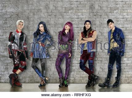 DESCENDANTS 2, CAMERON BOYCE, SOFIA CARSON, DOVE CAMERON, BOOBOO STEWART , MITCHELL HOPE, 2017 - Stock Photo